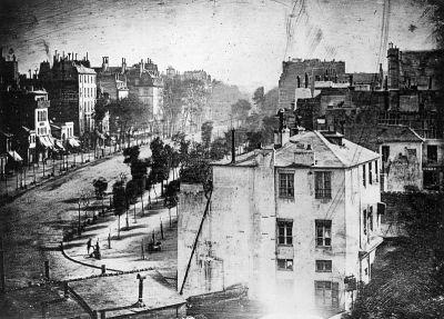 صورة فوتوغرافية شمسية التقطها لويس داجير سنة 1838 في باريس